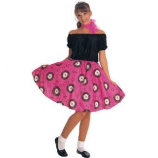50s Girl Adult Costume Up to Size 12 Clothing