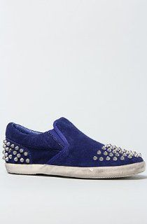 Shoes The Smart Studded Sneaker in Cobalt Blue Suede,38,Blue Shoes