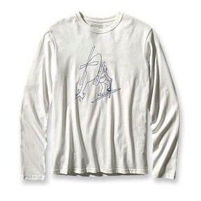 Patagonia Mens Long Sleeve Long Way Up T Shirt White (M
