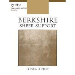 Berkshire Queen Silky Sheer Support Pantyhose   Sandalfoot