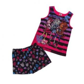 Monster High 3 Character Pajama Set (S (6/6X), Monster