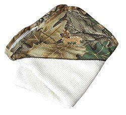 White Thermal Blanket with Mossy Oak Camo Corner & Daddys