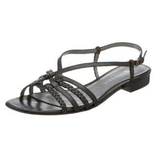 Etienne Aigner Womens Baja Sandal,Black,6.5 M Shoes