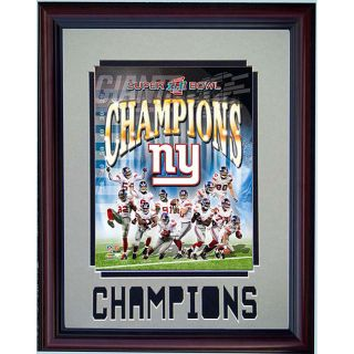 New York Giants 2008 Champs Mat 11x14 Deluxe Framed Print