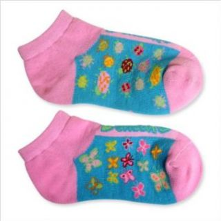 Butterflies and Lady Bugs Baby Sock in Pink Size 6   8.5