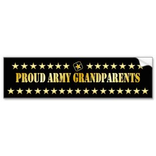Proud Army Grandparents Star Bumper Sticker