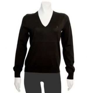 Ralph Lauren Womens Black V neck Sweater in X Small