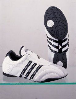 White with Black Stripes AdiLuxe Martial Arts Shoes, Size 4 Shoes