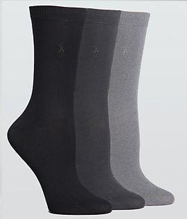 Ralph Lauren womens socks Classic Flat Knit Trouser brown