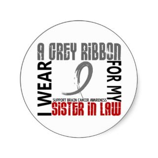 Brain Cancer Ribbon Stickers, Brain Cancer Ribbon Sticker Designs