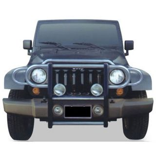 Jeep Wrangler Sahara 2007 08 Black Grille Guard