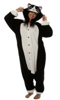 Kigurumi Black Cat Adult Animal Pyjamas / Fancy Dress