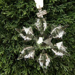 Swarovski 2010 Six point Crystal Star Christmas Ornament