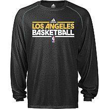 Adidas Los Angeles Lakers Heathered Climalite Long Sleeve