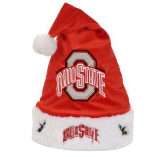 Ohio State Buckeyes 2011 Colorblock Runoff Logo Santa Hat