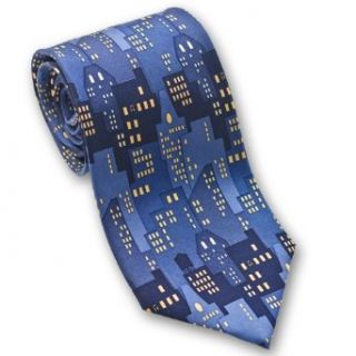 City Lights   Mens Silk Necktie Clothing