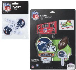 NFL Denver Broncos Lay on Cake/Cupcake Decorations Sports