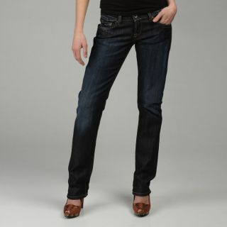 Rifle Jeans Womens Crunched Straight Leg Jeans