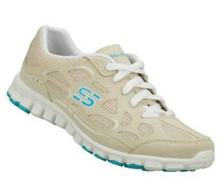 Skechers EZ Flex Womens Sneakers Natural/White 9 Shoes