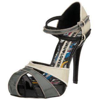 Harajuku Lovers Womens Aleria Sandal,Black/Grey,6 M US Shoes