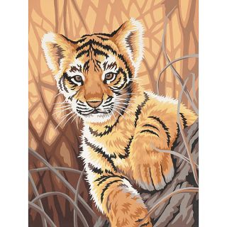 Learn To Paint Tiger Cub Paint by Number Kit