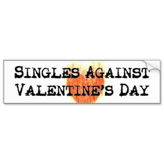 Against Valentines Day Sticker Bumper Stickers