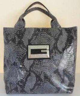 Guess Wild Kingdom Snake Embossed Handbag Purse ~ Black