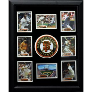 San Francisco Giants Logo Frame with 8 Baseball Cards (12 x 18) Today