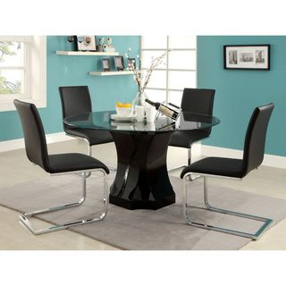 Enitial Lab Five piece Glass Dining Table Set