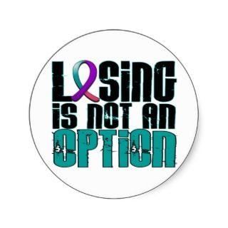 Thyroid Cancer Ribbon Stickers, Thyroid Cancer Ribbon Sticker Designs