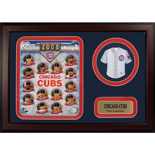 Chicago Cubs 2008 Framed Print with Mini Jersey