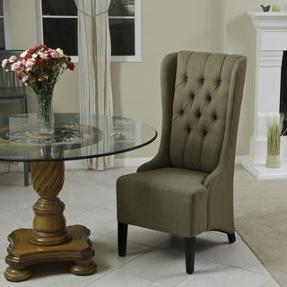 Christopher Knight Home Champion Tufted Khaki Brown Fabric Dining