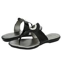 AK Anne Klein Valentina Black Synthetic Sandals