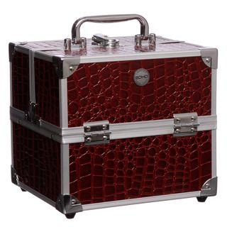 SOHO Red Croc Beauty Case