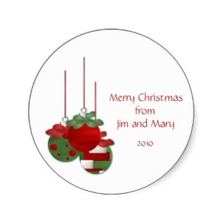 Christmas Ornaments Personalized Christmas Sticker