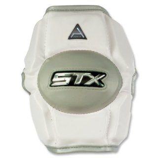 STX Agent Defense Lacrosse Arm Pad Medium (White) Sports