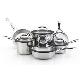 KitchenAid Gourmet Stainless Steel 10 Piece Cookware Set