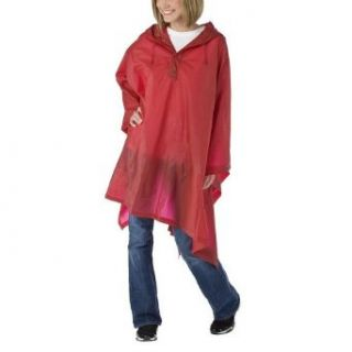 Adult Rain Poncho for Men or Women by totes, Red Clothing