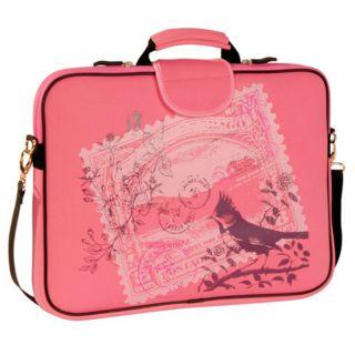 Fuji Depot 17.3 Inch Pink Stamp Handled Laptop Sleeve