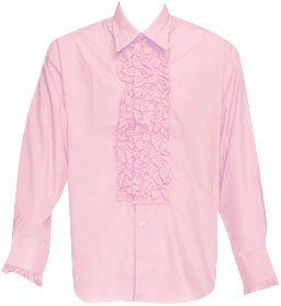 Mens Pink Tuxedo XXL Shirt Theater Costume Clothing