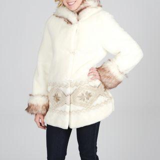 Nuage Womens Faux Fur Coat