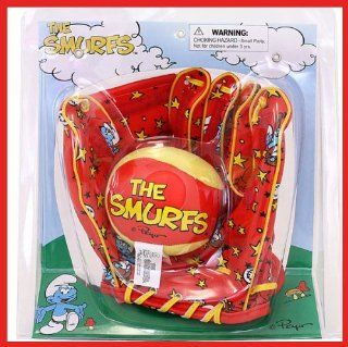 KELLYTOY THE SMURFS EASY TOSS AND CATCH MITT AND BALL SET