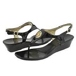 AK Anne Klein Maida3 Black Sandals