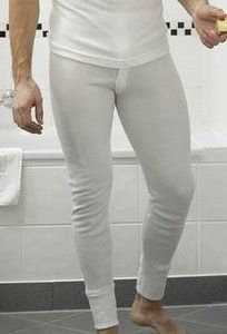 Mens Thermal Underwear Long Johns.white medium Clothing