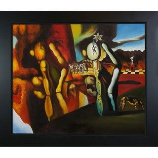 Salvador Dali Metamorphosis of Narcissus Framed Art