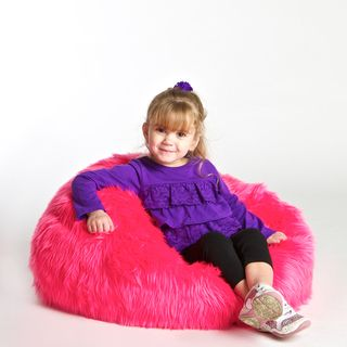 Surprising Pink Fur Bean Bag Chair Jaguar Clubs Of North America Inzonedesignstudio Interior Chair Design Inzonedesignstudiocom