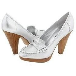 Steve Madden Oldiee Silver Leather Pumps/Heels
