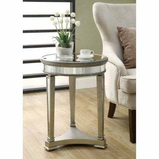Mirrored 20 inch Dia Accent Table