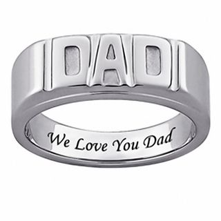 Stainless Steel We Love You Dad Band Fashion Ring