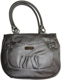 Womens Nine West Purse Handbag Braidington Bison Pewter
